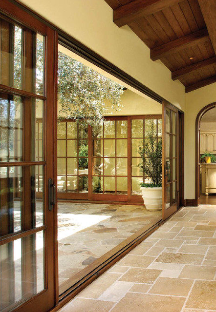 Wood sliding glass doors for Exterior door with sliding window