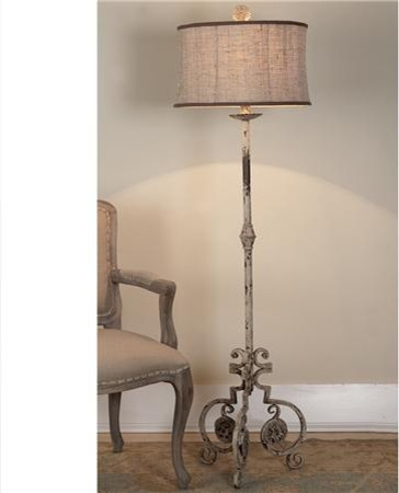 Shabby iron scroll floor lamp shabby iron scroll floor lamp shades of light