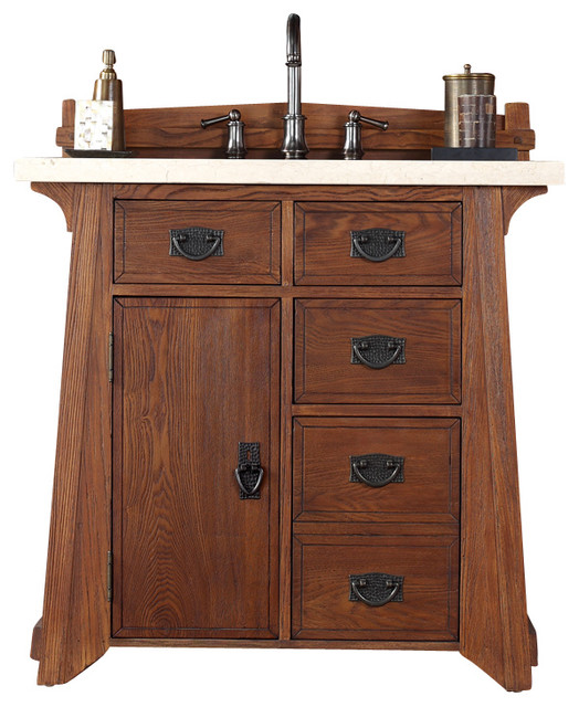 James Martin Pasadena 36 Single Vanity Cabinet Cabinet Only No Top Craftsman Bathroom