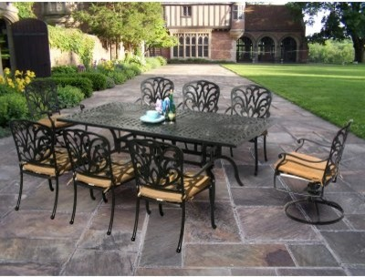 Oakland Living Hampton 84 x 42 in. Patio Dining Set modern-patio-furniture-and-outdoor-furniture