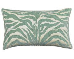 Elaine Smith Pillows Serengeti Aqua Zebra - 12 inch. x 20 inch. - TE7