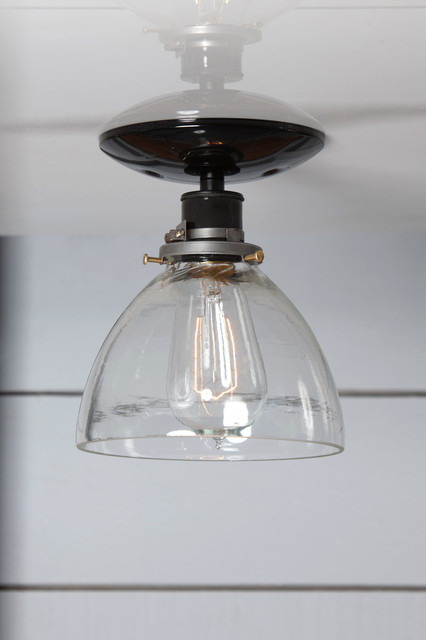 Semi Flush Mount Glass Shade Light Farmhouse Flush mount Ceiling Lighting