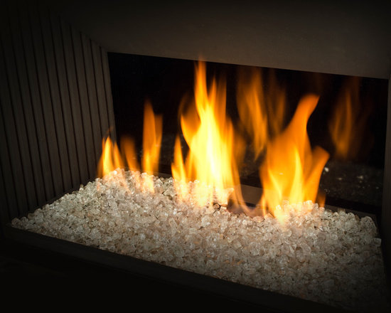 H5 Series Fireplace - 1100I H5 Engine shown with Decorative Glass