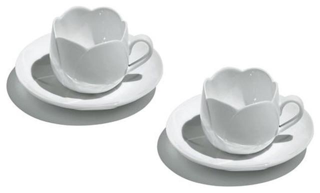 Alessi tulip teacup set modern dinnerware by switch - Alessi dinnerware sets ...