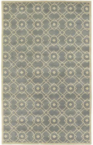 Hand-Tufted Glamorous Seafoam Wool Rug modern rugs
