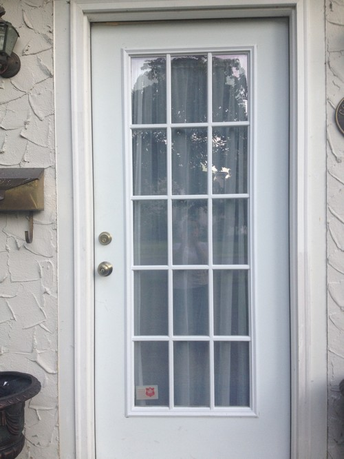 Painting a steel french door grates too for Steel french doors