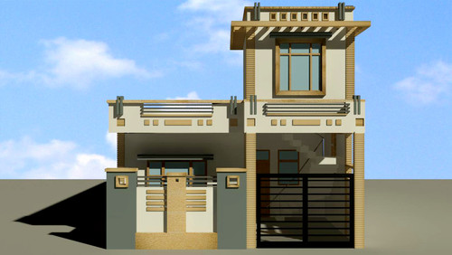 Ground Floor Front Elevation For Small House : House front elevation for ground floor in hyderabad