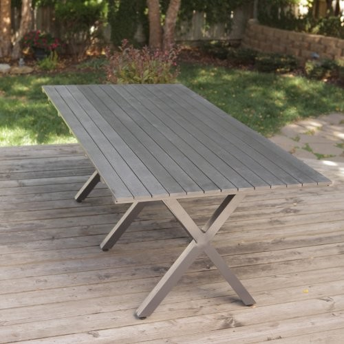 Bella All Weather Resin Patio Dining Table Contemporary Outdoor Tables