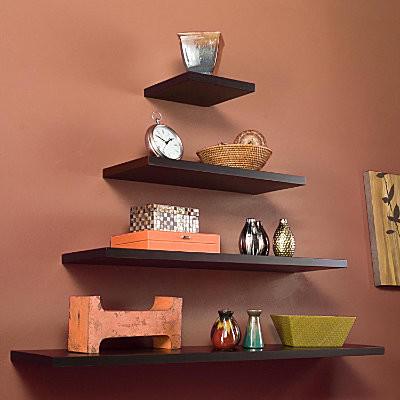 "Floating Wall Shelf 10"" contemporary-wall-shelves"