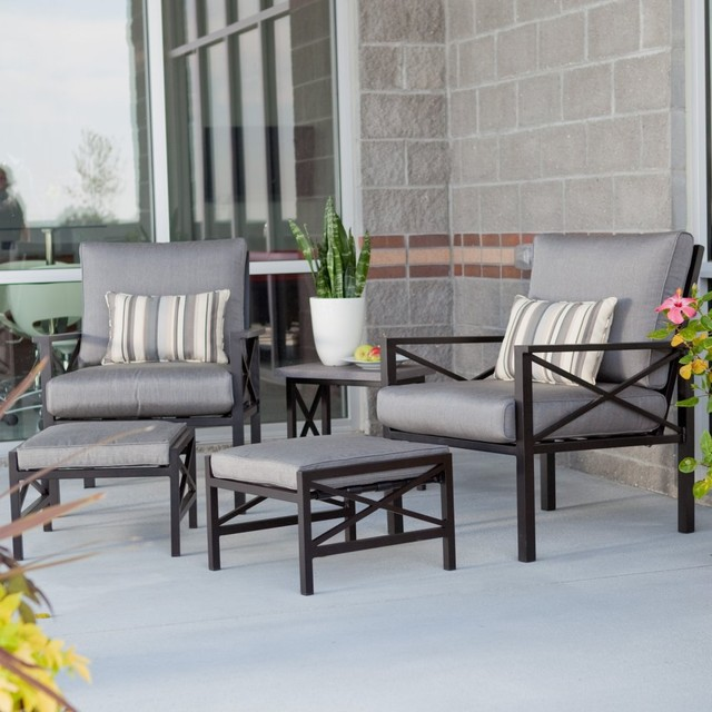 Madison Outdoor Balcony Chat Set - contemporary - patio furniture