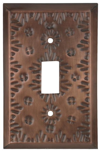Punched Tin Switch Plate Cover - Flower - Rustic - Switch Plates And Outlet Covers - phoenix ...