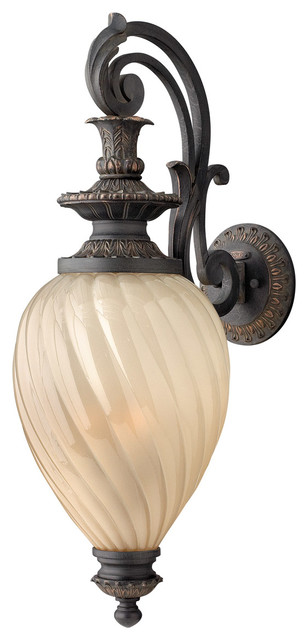 Hinkley Lighting 1735AI-GU24 Montreal 1 Light Outdoor Wall Lights in Aged Iron eclectic-outdoor-wall-lights-and-sconces