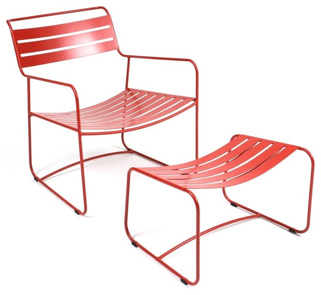 Surprising Lounger - Armchair with Footrest contemporary-outdoor-lounge-chairs