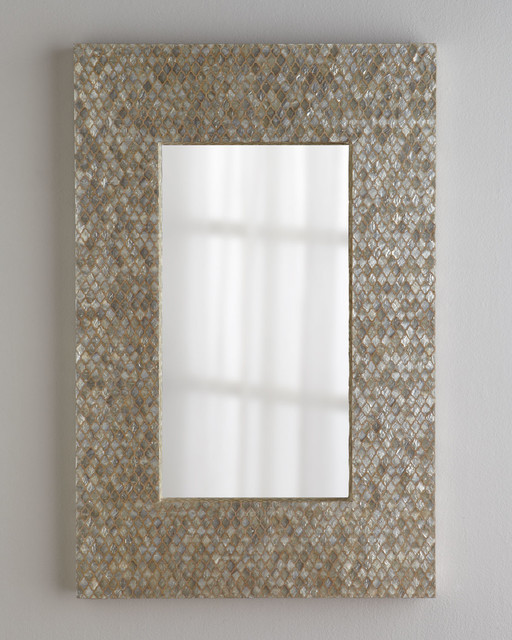 Diamond Motif Capiz Mirror Wall Mirrors By Horchow