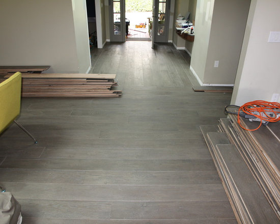 Residential remodel - Pacific Palisades - Custom European oak installed.