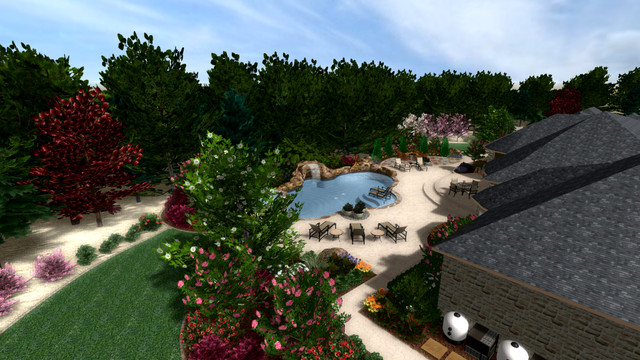 MADUBUIKE RESIDENCE-BACKYARD 3D DESIGN mediterranean