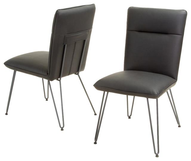 Bonsallo Vinyl Dining Chair Set of 2 Black Midcentury  : midcentury dining chairs from houzz.com size 640 x 540 jpeg 41kB