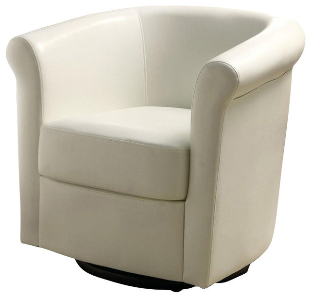 Coaster Club Chair in White Faux Leather - Transitional ...