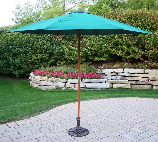 9 ft. Market Umbrella w Pulley - Rochester (W contemporary-outdoor-umbrellas