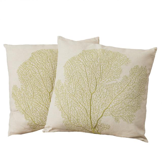 Tan Linen Throw Pillow : 18