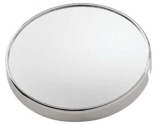 Gedy - Wall Mounted 3x Magnifying Mirror with Suction Cups - If you want a makeup mirror, why not consider this trendy optical mirror from the Gedy Mirrors collection? Perfect for more modern & contemporary settings, this decorative makeup mirror is wall-mount and finished in chrome.