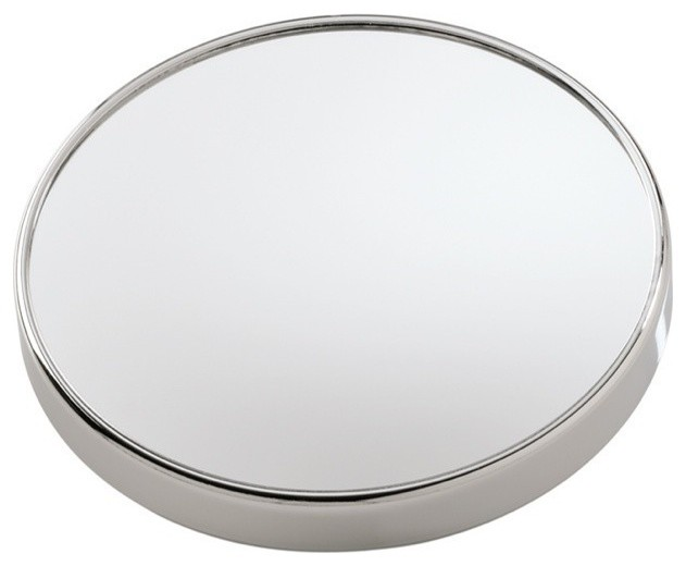 Wall Mounted 3x Magnifying Mirror with Suction Cups contemporary-makeup-mirrors