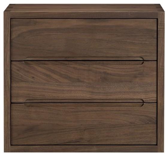 Sentry Walnut Wall Box with Drawers modern-storage-cabinets