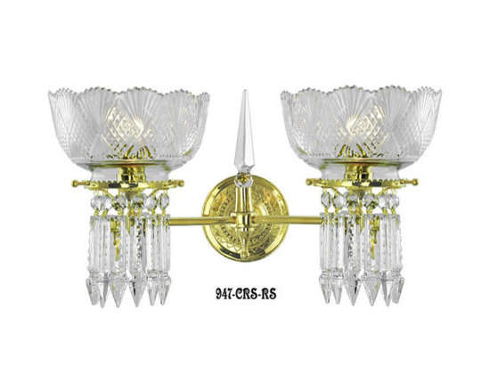 Victorian Chandeliers - Oxley-Gidding was the first choice of wealthy clients around the world,due to the fine craftsmanship and sparkle of their top quality crystal. This crystal wall sconce matches our beautiful Oxley-Giddings chandeliers. Bring your lighting down to eye level in hallways, next to the fireplace, or over the buffet with this gorgeous addition. We recommend the use of sconces in pairs.