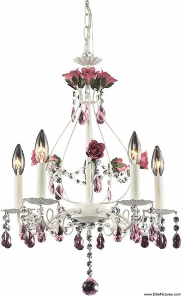 Elk Lighting 4054/5 5 Light Chandelier Rosavita Collection chandeliers