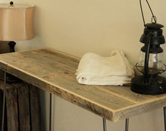 Reclaimed Wood Tall Console Table modern-side-tables-and-end-tables