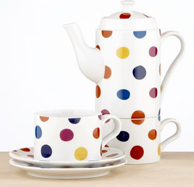 Polka Dot Tea For Two Set modern coffee makers and tea kettles