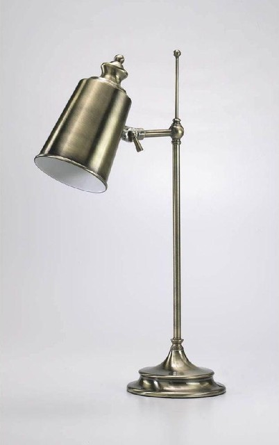 Cyan Adjustable Brass Lamp traditional-table-lamps