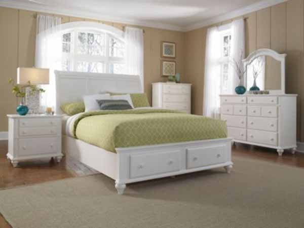 Broyhill furniture hayden place eastern king sleigh bed in linen white 4649 traditional Broyhill master bedroom sets