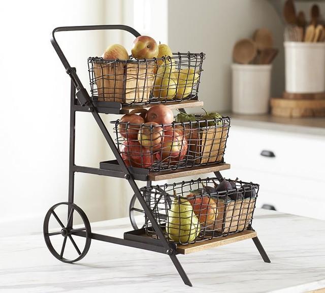 Vintage Blacksmith Fruit Cart Storage Traditional