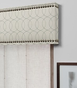 ... With Nailheads - Contemporary - Window Treatments - by The Shade Store