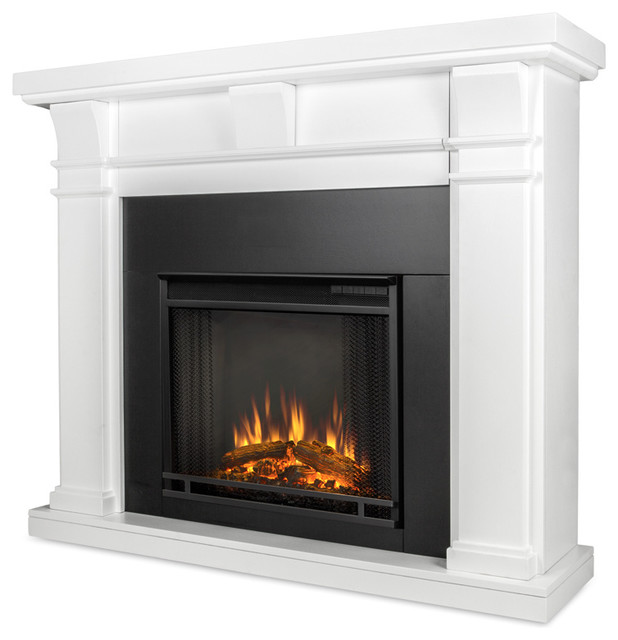 porter electric fireplace white transitional indoor