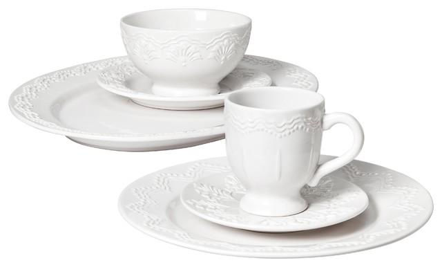 Privet House Embossed Tableware traditional-dinner-plates