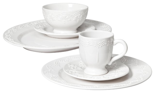 Privet House Embossed Tableware traditional dinnerware