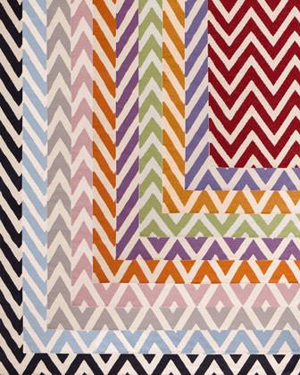Exquisite Rugs Delia Chevron Flatweave Rug, 5' x 8' traditional-rugs