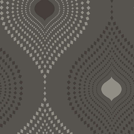 Tia Geometric Design Wallpaper, Black, Sample - modern - wallpaper ...