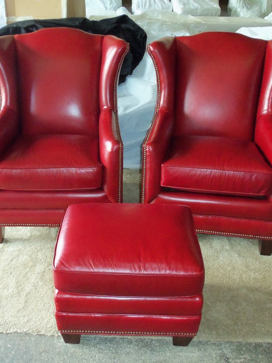 Customer Custom Orders - Kign Hickory Athens Leather Chairs