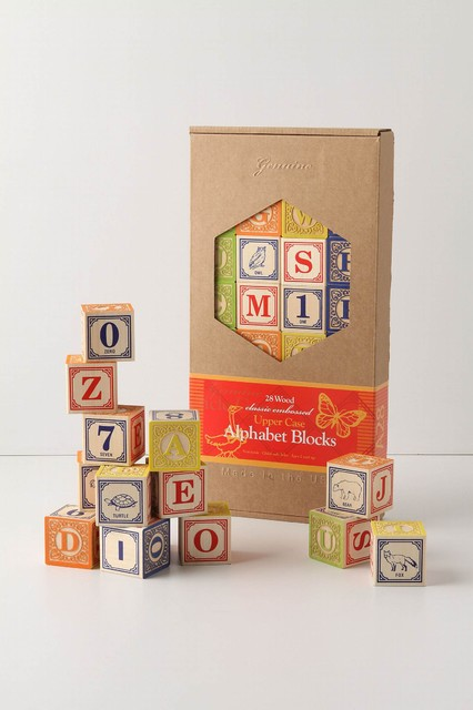 Alphabet Blocks  contemporary-kids-decor