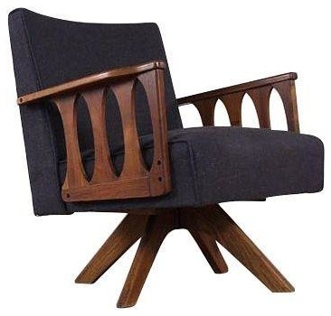 Pre-owned Reupholstered Retro Lounge Chair Rocker midcentury-armchairs-and-accent-chairs