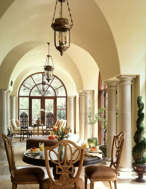 Barton creek italian villa loggia mediterranean austin for Italian villa interior design