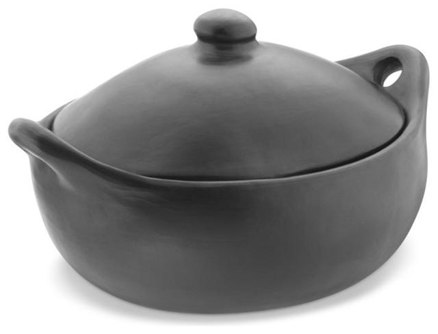 La Chamba Colombian Clay Oval Casserole Dish contemporary-saucepans