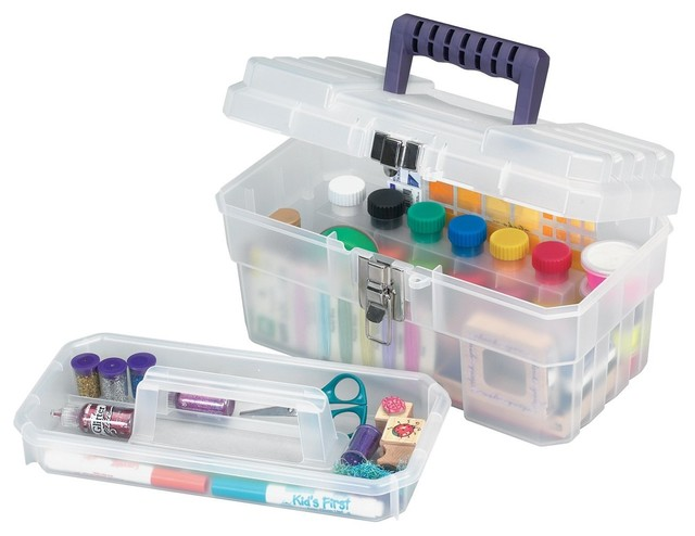 akro mils cft 14 inch plastic art supply craft storage