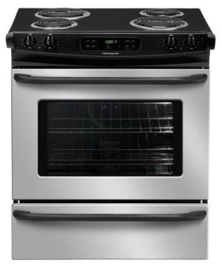Frigidaire Range. 30 in. 4.2 cu. ft. Slide-In Electric Range with Self-Cleaning contemporary-gas-ranges-and-electric-ranges