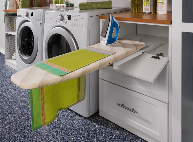 Laundry Room Pull-out Ironing Board contemporary laundry room