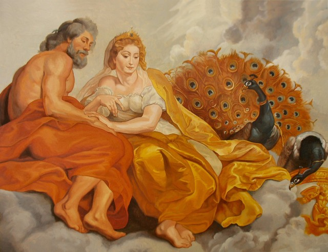 Zeus and Hera traditional-artwork