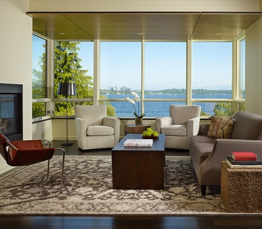 Fredlund Residence contemporary-living-room